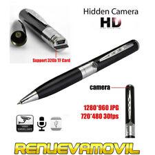 Boligrafo Boli Espia Con Cámara Oculta Mini Espia Graba Videos Fotos Spy Cam Pen