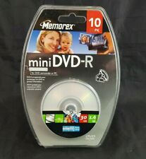 Memorex Mini Dvd R 10 Pack 4x1.4 Gb 30 Min New Sealed Recordable for Camcorder