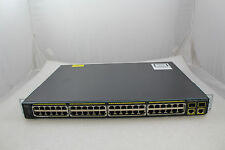 Lot 4 Genuine Cisco Catalyst 2960 WS-C2960-48PST-S 48 Ports PoE Network Switch