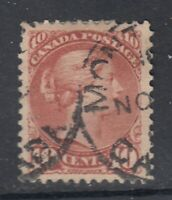 "Canada Scott #45  10 cent brwon red ""Small Queen""   F-VF"