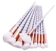 10pcs Unicorn Makeup Brushes Cosmetic Eyeshadow Face Powder Brushes Purple Set
