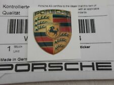 Genuine Porsche Coloured Crested Badge Sticker