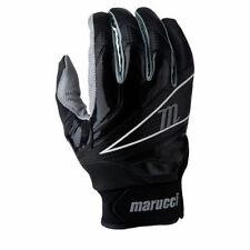 Marucci Elite Professional Batting Gloves Cabretta Leather, Black Size: Small