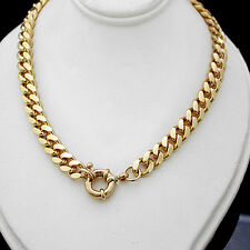 "LADIES 20"" BOLT RING CLASP 7mm Rounded CURB Link 14K GOLD GL Necklace +LIFE GUAR"