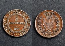 3 Centesimi 1826 L (Torino) Sardaigne (Italie). SPL. Bronze. Cote SPL: 120€