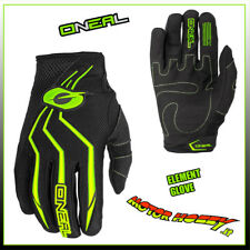 GUANTO GLOVE CROSS ENDURO QUAD O'NEAL ONEAL ELEMENT NERO GIALLO FLUO TAGLIA S