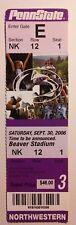 2005 Penn State Northwestern Ticket Stub Football