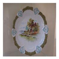 Teller Keramik Porzellan Barbotine Faitmain Jugendstil Deko Pn Frankreich N102