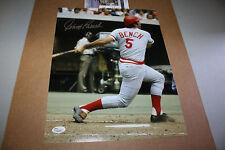 CINCINNATI REDS JOHNNY BENCH #5 SIGNED 11X14 PHOTO 1976 WS MVP JSA