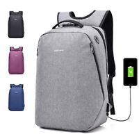 Anti-Theft Men Women Travel Backpack External USB Charge Port Laptop School Bag