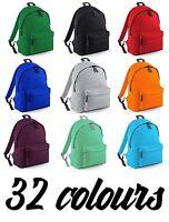 Plain Retro Backpack Mens Womens Boys Bag School College Urban Hipster Rucksack