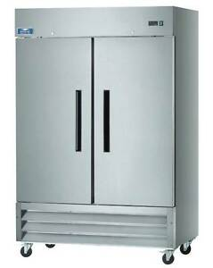 Arctic Air AR49 2 Door Stainless Steel Commercial Reach-In Cooler Refrigerator