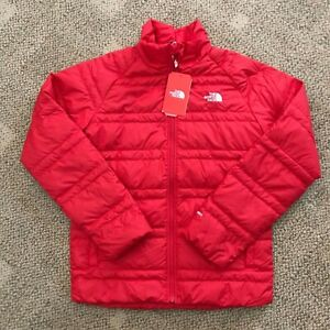 The North Face Boys Red Alpz Down Jacket Size XL Warm Coat