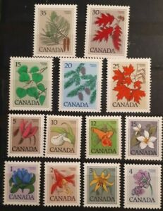 1972-79 Canada Full Set Of 13 Stamps - Flower & Plant Definitives - MNH