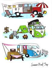 NEW Kombi Campervan 100% Cotton Kitchen Tea Towel Summer Road Trip