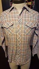 Vintage 70s 80s Gap Fashion Pioneers Western Long Sleeve Pearl Snap Shirt 008