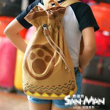 Monster Hunter cos Airou Airu Cat Paw school Bag Backpack Cosplay Gift shoulders