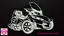 CAN-AM SPYDER  RT FLAMES - WINDOW DECAL / BUMBER STICKER  - 13 vinyl colors