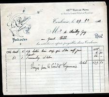 """TOULOUSE (31) BOTTIER / CHAUSSURES """"L. CHANTRE"""" en 1922"""