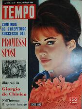 TEMPO N°20/16.MAG.1964 JACKIE LANE - SOFIA LOREN e GENEVIEVE PAGE - MONICA VITTI