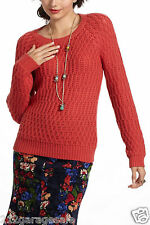 Anthropologie NEW Hamilton Cottage Sweater By Sparrow Size Extra Large Color Red