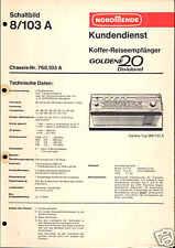 Nordmende original manual de servicio para dorada dixieland 20 8.103a