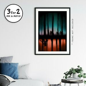 The Upside Down Stranger Things Retro Giclee Poster, Teenage Movie Prints