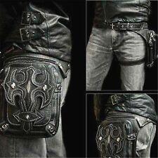 Victorian Men Retro Motorcycle Rider Punk Waist Leg Bag Rock Messenger Pack New
