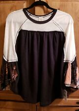 FREE PEOPLE WE THE FREE FRIDAY FEVER TOP BLACK SIZE XS NWT
