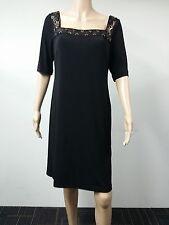 NEW FAST to AUS - Donna Morgan - Size 14 - Beaded Neck Sheath Dress - Black $138