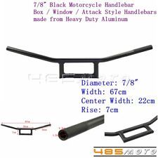 1X 7/8'' Black Motorcycle Box Window Attack Style Handlebars Custom For Harley