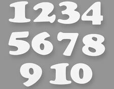 60 White Card Number Shapes for Display Boards - 9.5cm