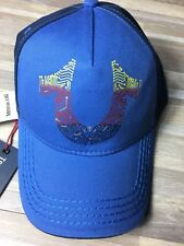 $65 True Religion Premium Baseball Trucker Cap Hat Blue NWT Free S/H! TR2438