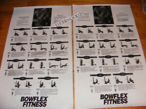 BOWFLEX  POWER PRO POSTER / LAMINATED/SIDE BY SIDE