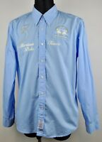 LA MARTINA Buenos Aires Men's XL Casual Shirt Blue Long Sleeved Cotton Formal