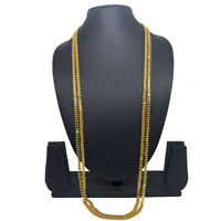 """Indian Women Long Chain Mala Gold Tone 36"""" Necklace Casual Party Ware Jewellery"""