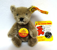 "Vintage 1970's Steiff 4"" Mohair Teddy Bear Button in Ear & Tags MINT Clean XLNT"