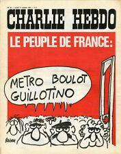 """""""CHARLIE HEBDO N°47 du 11/10/1971"""" REISER : METRO BOULOT GUILLOTINO"""