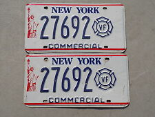 New York Volunteer Firefighter Commercial License Plates 27692 Statue of Liberty