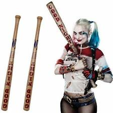 AU Hot Harley Quinn Batman Suicide Squad Wooden Baseball Bat Halloween Cosplay