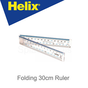 30CM HELIX Folding Ruler Transparent Quality School Metric Rule - CM / MM