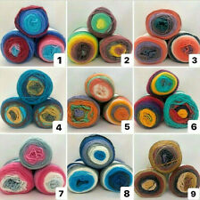 500 gr Paket Farbverlaufswolle, 100% Acryl, 11 Farben, Freie Farbauswahl