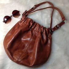 Aldo Brown Leather Cinch  Hobo Boho Small Handbag