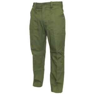 BRITISH ARMY SURPLUS MENS LIGHTWEIGHT TROUSERS ISSUED FATIGUES OLIVE GREEN