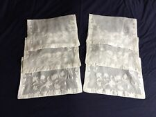 Superb Vintage Organdie Madeira Work Hand Embroidered Set 6 Table / Place Mats