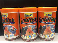 New listing 3 Tetra Goldfish Vitamin C Enriched Flakes 2.2 Oz Each (Exp. 02/23)