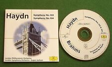 Haydn Symphonies Nos 103 & 104 LPO / Brahms Variations LSO Eugen Jochum CD