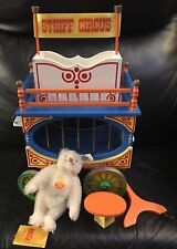 Rare Limited Edition Steiff Wooden Circus Wagon & Dicky B. Weiss Mohair Bear