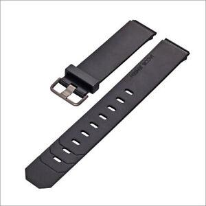 JACOB JENSEN Uhrband watch strap original Kautschuk schwarz 19 mm Einschubband