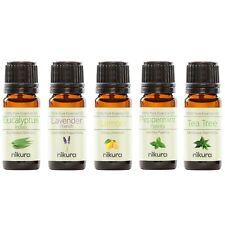 5 x 10ml Essential Oils 100% Pure - Beginners Pack - Gift Set Nikura